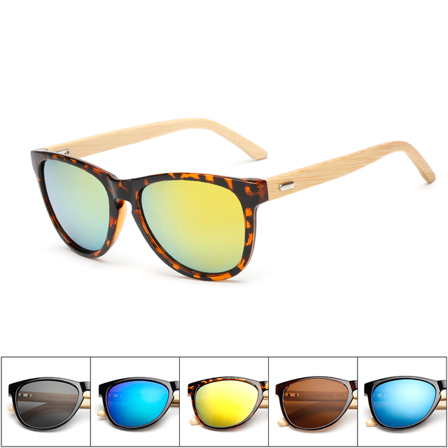 Ready stock New Model Bamboo Frame High Quality Wooden Sunglasses Cheap natural Bamboo Sunglasses