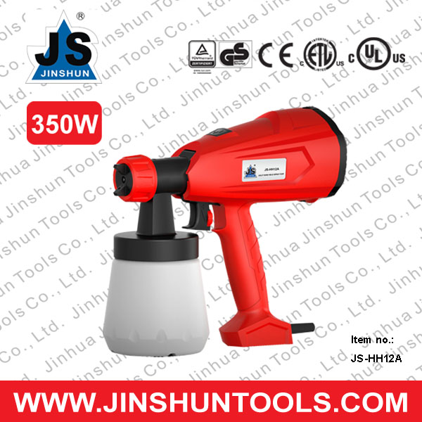 JS-HH12A 350w latest customerized plastic fiberglass paint spray gun