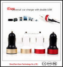 2015 Mobile phone accessories dual usb car charger made in China