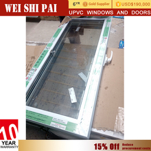Made In China Pvc Plastic Screen Doors And Windows , Fixed Tempered Opaque Stained Curved Large Glass Windows