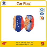 2014 New Product Wholesale Car Mirror Cover Flag