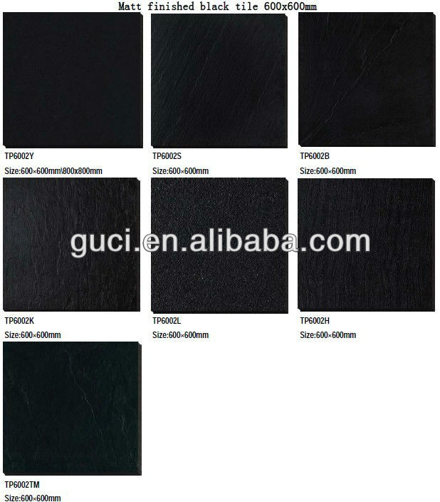 24x24 super black non slip full body porcelain floor tiles