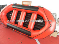 hot!!! 6 persons 4.0m reinforced floor OEM and logo accepted inflatable river boat