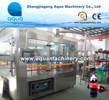 Automatic Glass Bottle Filling Machine -- Carbonated Drinks
