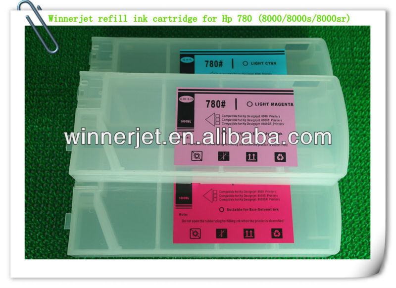 Empty ink cartridge For Hp 780 ink cartridge For Hp Designjet 8000 8000s 8000sr Ink Cartridge