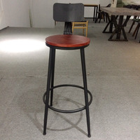 Foshan manufacturer industrial wrought iron home goods commercial bar stool