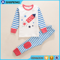 kids christmas pajamas wholesale high quality children clothing sets factory