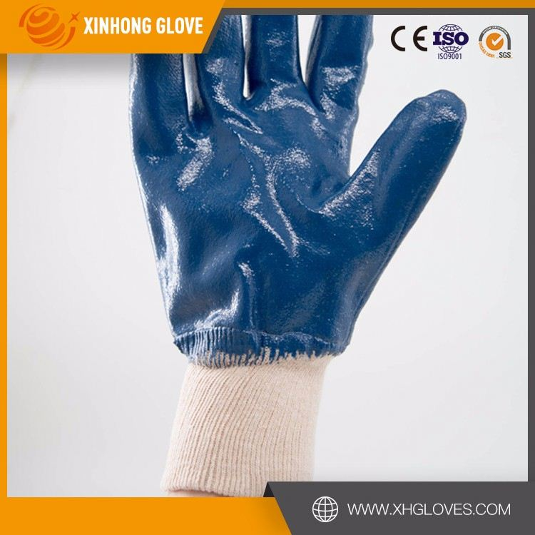 TPR sewing oil resistant safety mining gloves for miners
