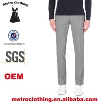 2015 Men Clothing Manufacturer High Quality Custom made wholesale Slim fit tapered wool trousers
