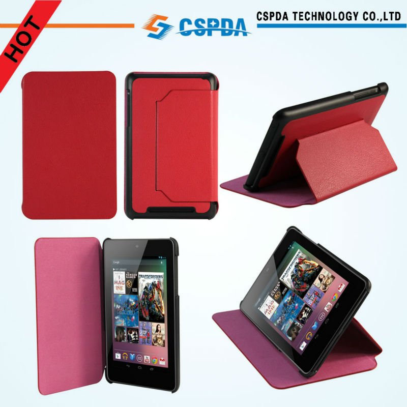 "For Google Asus Nexus 7"" Tablet factory price PU leather case cover"