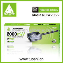 2000mW RTL8187L Chipset Melon/OEM USB Wifi Adapter