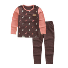 TC50061Wholesale girl long sleeve cartoon printing sleepwear sets children warm clothes sets