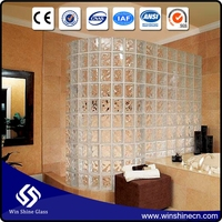 China Factory Hollow Clear Glass Brick
