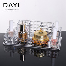 Dressing room organizer Diamond Design acrylic deco cosmetic organizer clear