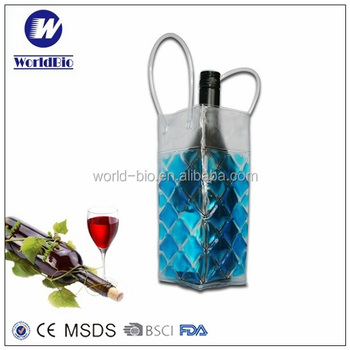 gel wine bottle cooler/wrap pvc liquid bag