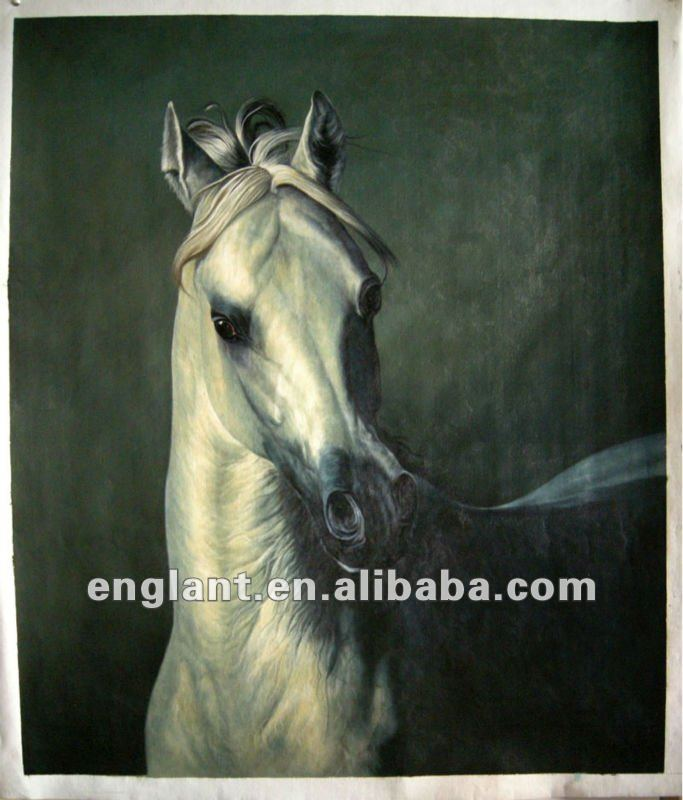 Framed horse on canvas painting with fast delivery