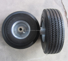 heavy duty solid rubber flat free tubeless hand truck tire wheel