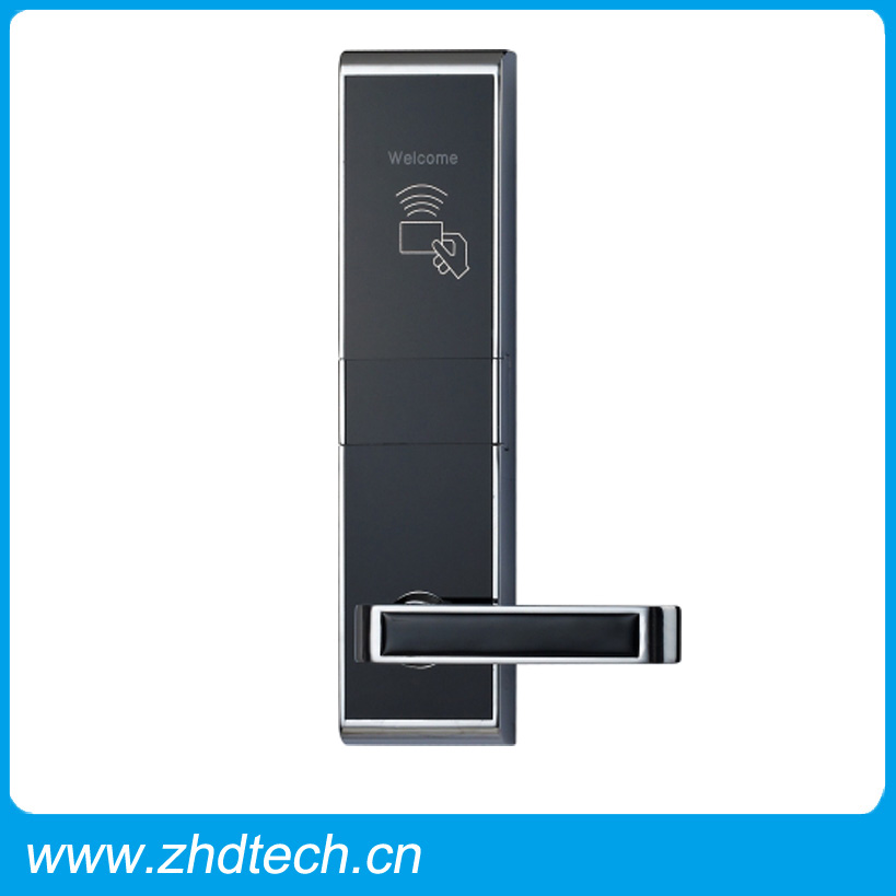 High quality rfid card electric handle safe digital hotel smart keyless security door lock With encoder