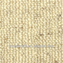 Loop Pile White New Zealand Wool Carpet With Jute Back