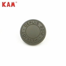 Army green painting custom debossed engrave logo round zinc alloy metal snap button with OEM/ODM garment bag coat jacket pant