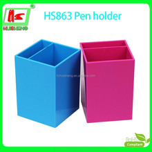 custom plastic desktop pen holder for office and school