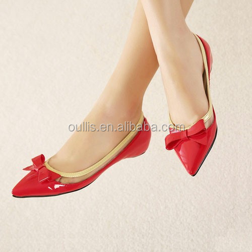 2016 China factory wholesale ladies fancy flat shoes PE3384