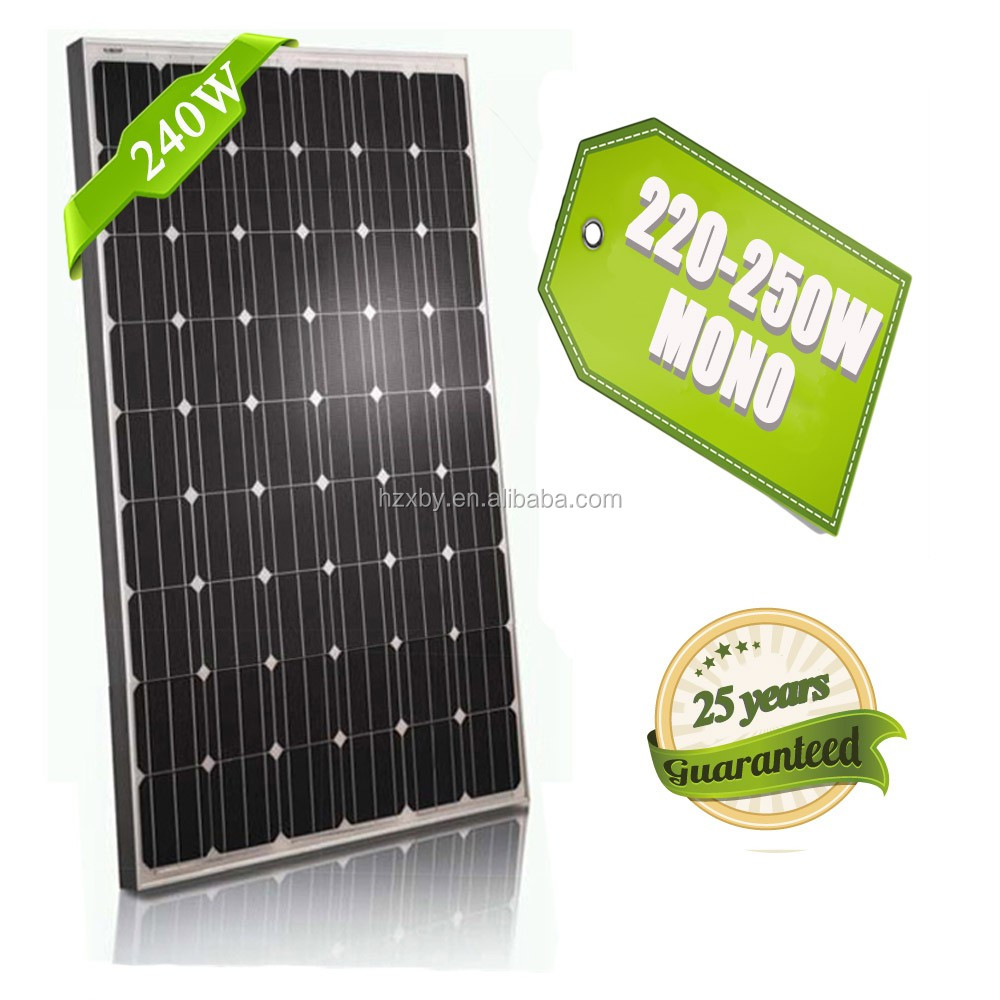 Factory Wholesale Best Price Best Quality New 240 Watt Photovoltaic Solar Panel