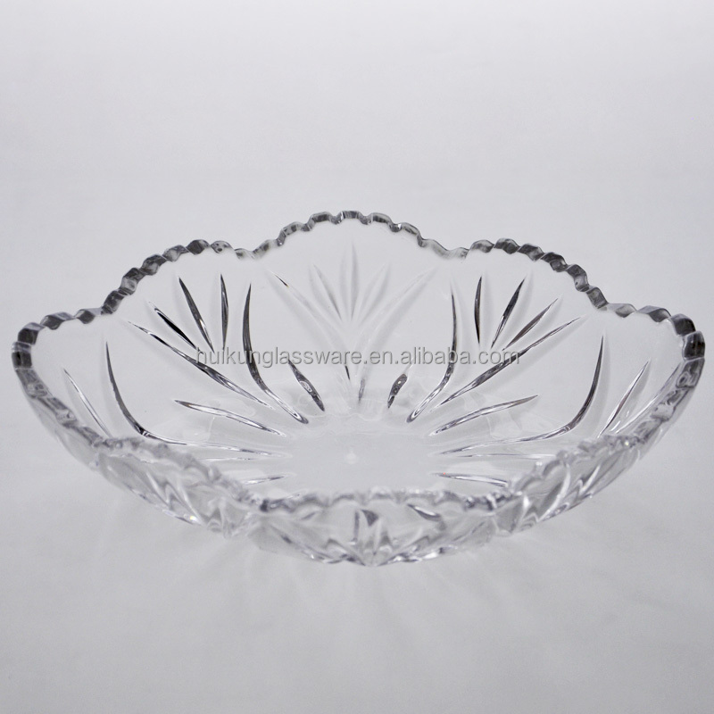 Wholesale Stock Glass Plate Glass Fruit Plate Glass Salad Plate