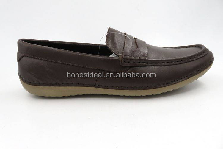 RS666-8 High quality low price casual boat leather shoes men loafer shoes