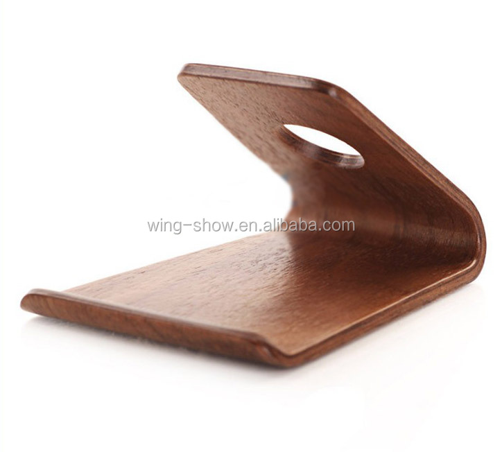 Desktop wood mobile phone stand holder for display