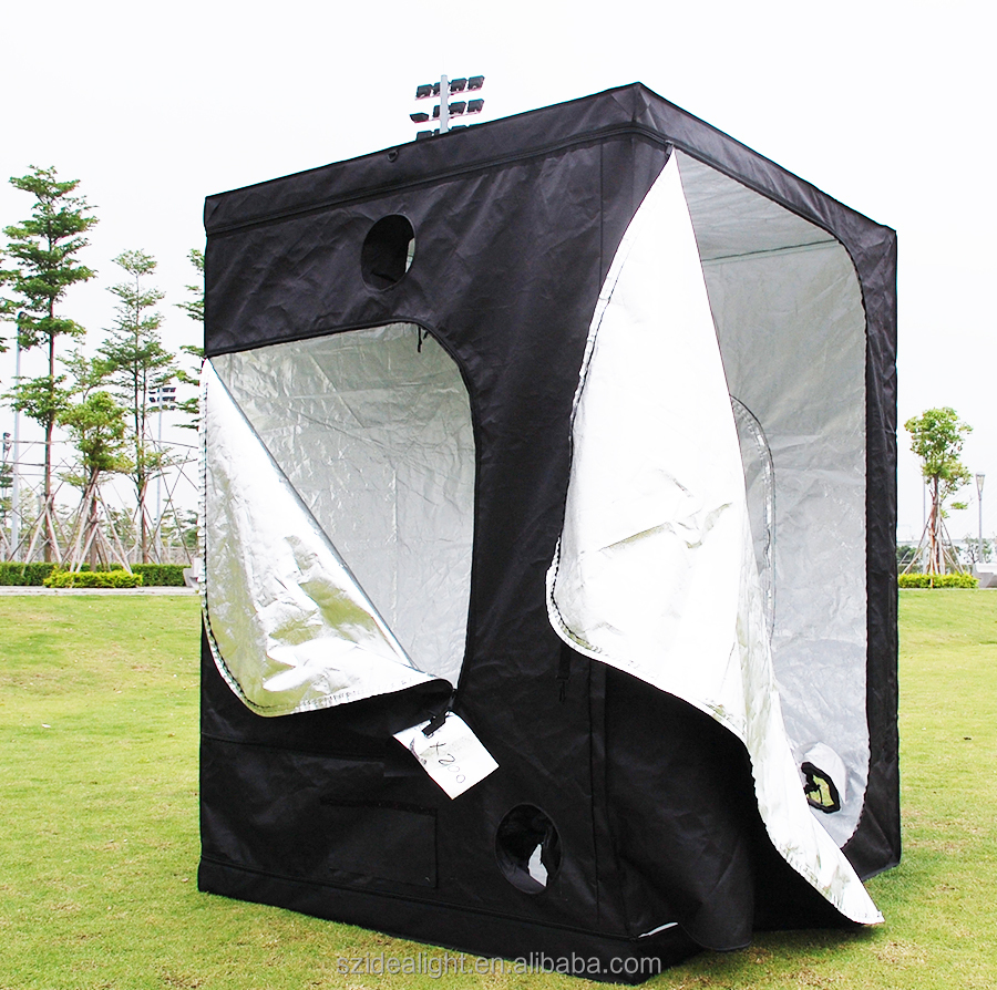 Factory Wholesale Price Quality Assured grow tent material 95% Highly Reflective Fabric 600D Indoor Hydroponic Grow Tent