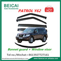 FIT for Nissan Patrol Y62 2013 Onwards SET OF BONNET PROTECTOR & WEATHER SHIELDS