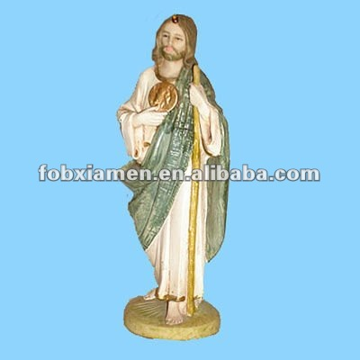 Custom religious crafts resin saint Jude statue