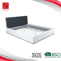 Italian Euro style bed design furniture queen size pu leather bed frame plywood bed frame