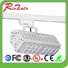 2015 new design rectangle 30w led track spot lighting with 3 years warranty white or black color housing