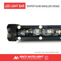 Off Road Super slim waterproof 60w straight 4x4 offroad 12 volt led light bar