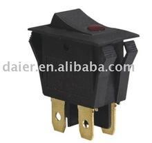 DPST 4pin ON-OFF dot illuminated rocker switch 16A 125V 16A 250V