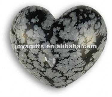 Puffy Heart shaped Snowflake stone 35MM