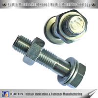 50mm diameter steel bolt with nylock nuts