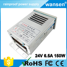 CE approved driver power supply 6a high voltage transformer 24v 145w / 150w waterproof led driver / led hs code power supply