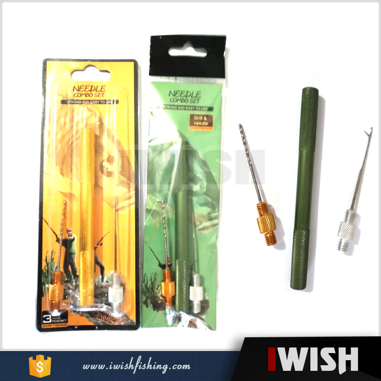 Blister And Plastic Packing 3 In 1 Alloy Bait Needle Drill Hair Rigs Carp Fishing Accessory Tool