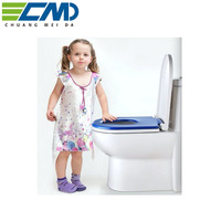 Easy Cleaning D Shape Normal Close Slim Soft Clear Toilet Seat