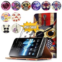for xperia s lt26i case cover, printed pu leather flip wallet case for sony xperia s lt26i
