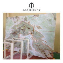 Luxury natural stone light green marble onyx slabs