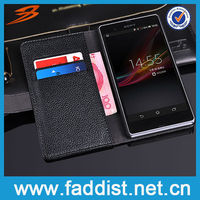 Hot Flip Leather Case for Sony Xperia Z L36H Phone Case