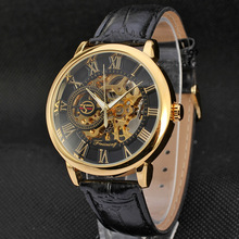 Hot sale fashion alloy case waterproof manual mechanical men watches