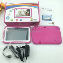 "Smart 7"" Kids Tablet PC 1024x720 Touch Screen RK3126 Quad Core Child Tablet 8GB Preschool Education Tablet PC Android"
