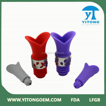 Bar accessories anti-dust silicone rubber beer bottle stopper