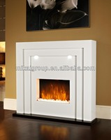 Free-standing high quality craft electric fireplace mantle