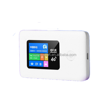 Portable Mini Stylish Wireless Wi-Fi 4G LTE Router with SIM Card Slot
